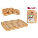 tray short bread bamboo 36x25x18cm quttin