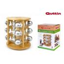 conjunto de 12 especieros soporte bambú quttin