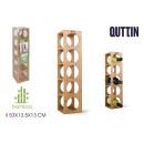 5 cavities bamboo bottle rack quttin