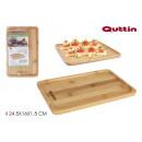 bamboo tray 24.5x16x1.5cm quttin