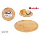 wholesale Crockery: round bamboo tray 20cm quttin