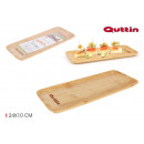 rectangular bamboo tray 24x10cm quttin
