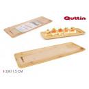 rectangular bamboo tray 33x11.5cm quttin