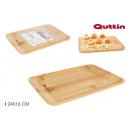 bandeja rectangular bambú 24x16cm quttin
