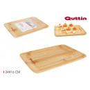 rectangular bamboo tray 24x16cm quttin