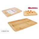 bandeja rectangular bambú 28x20cm quttin