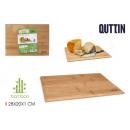 tabla cortarservir bambú 28x20cm quttin