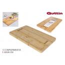 planche à découper 3 sections bambou 43x28 quttin