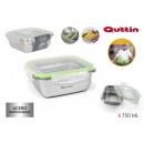 ss airtight quadratic 750ml quttin lunch box