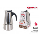 coffee machine 4 services induction inox quttin