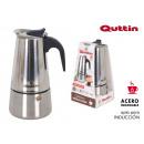 coffee machine 6 services induction inox quttin