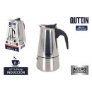 Quttin stainless steel induction 6 service coffee