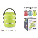 wholesale Lunchboxes & Water Bottles: set of 3 thermal lunch box ss 06lt quttin