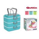 set of 3 thermal lunch box pu 075lt quttin