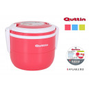 lunch box thermo stackable x 2 red. quttin