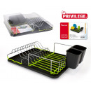 dish drainer with tray 43x32x145 privilege