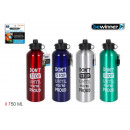 wholesale Trousers: aluminum sport water bottle. push 750ml bewinn