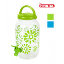 wholesale Kitchen Utensils: plastic water dispenser jar 3.8lt privile