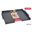 barbecue grill with holes 36x29cm algon