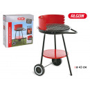 round barbecue with wheels 43cm algon