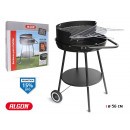 round barbecue with wheels 56cm negr algon