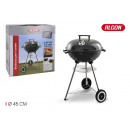 wholesale Barbecue & Accessories: round barbecue with lid 45cm black algon