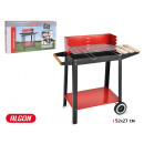 barbecue with wheels 52x27cm algon