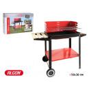 barbecue con ruote algon 58x38cm