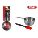saucepan with barbecue applicator 13.5cm cotton