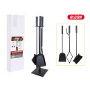 set of 3 fireplace accessories with something supp