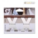 hurtownia Dom & Kuchnia: zestaw 2 stalowych wieszaków na drzwi x komfort