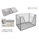 wholesale Organisers & Storage: stackable basket 37x26x27.5cm black confortime
