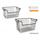stackable basket 39.5x27x23cm black confortime