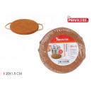 Cork placemat with handles round 20cm privi
