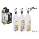 ingrosso Alimentari & beni di consumo: Bottiglia per olio in vetro da 500ml con tappo in