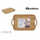 wooden tray 35.7x22.7cm privilege handles