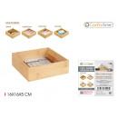 Bamboo storage box 16x16x5cm confortime