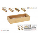 wholesale Decoration: Bamboo storage box 23x9x5cm confortime