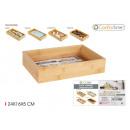 Bamboo storage box 24x16x5cm confortime