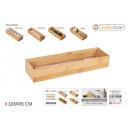 Bamboo storage box 32x9x5cm confortime