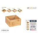 Aufbewahrungsbox aus Bambus 9x9x5cm