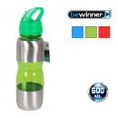 botella sport 600 ml plast/met.