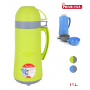 plastic thermos with 2 cups 1 liter privilege