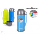 wholesale Thermos jugs: plastic thermos with cup 1 l. privilege