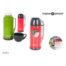 thermos en plastique avec tasse 050l r / g thermos