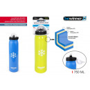 thermal bottle pu sport 750ml push bewinner