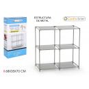 shelving nw 4comp 68x35x70cm confortime