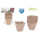 ingrosso Giardinaggio & Bricolage: set di 12 vasi biodegrad 8x8cm l