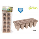 set of 3 seedling 10 plant22x8,5x5,5 litt