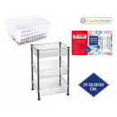 wholesale furniture: plastic shelf 3n 39.5x30x59cm confortim